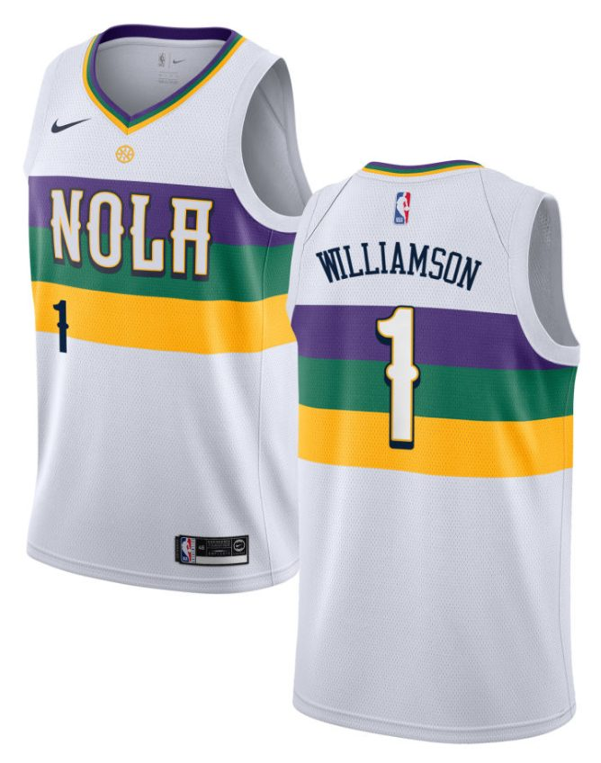 Zion Williamson Nola White City Edition Jersey By Nike
